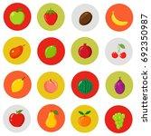 set of flat icons. fresh ...   Shutterstock . vector #692350987