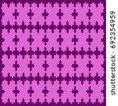 vector easy geometric floral... | Shutterstock .eps vector #692354959