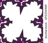 vector easy geometric floral... | Shutterstock .eps vector #692354989
