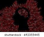 generative human head shape...   Shutterstock .eps vector #692355445