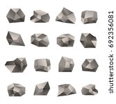 set of triangular stones... | Shutterstock . vector #692356081