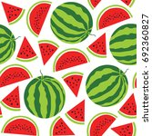 watermelon  pattern. vector... | Shutterstock .eps vector #692360827
