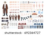 old man character constructor ... | Shutterstock .eps vector #692364727