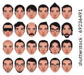 avatar  men's portraits. vector ... | Shutterstock .eps vector #69236491
