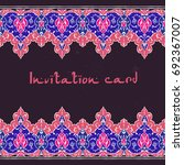 islamic floral card in... | Shutterstock .eps vector #692367007