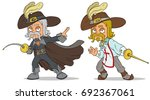 cartoon standing musketeer in... | Shutterstock .eps vector #692367061