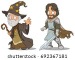 cartoon medieval wizard and... | Shutterstock .eps vector #692367181