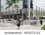 chicago  usa   june 26  2013 ... | Shutterstock . vector #692371111