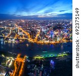 ho chi minh city  aerial view | Shutterstock . vector #692375149