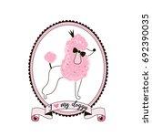 princess poodle dog | Shutterstock .eps vector #692390035