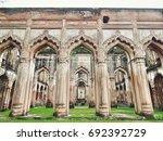 lucknow residency mosque ... | Shutterstock . vector #692392729