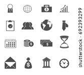 business icons set vector | Shutterstock .eps vector #692393299