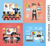 set of business presentations.... | Shutterstock . vector #692394091