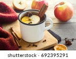 Hot Drink Of Apple Tea With...