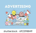 advertising concept... | Shutterstock . vector #692398849