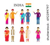 india people in traditional... | Shutterstock .eps vector #692399797