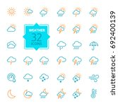 weather forecast   outline web... | Shutterstock .eps vector #692400139