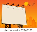 outdoor billboard  vector...