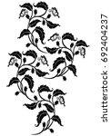 vintage flower  vector   Shutterstock .eps vector #692404237