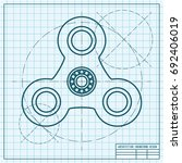 vector simple hand spinner icon....   Shutterstock .eps vector #692406019