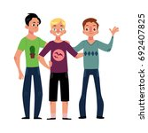 male friendship concept of boys ... | Shutterstock .eps vector #692407825