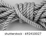 nautical detail   sailor knot   ... | Shutterstock . vector #692410027