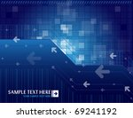 arrow background with place for ... | Shutterstock .eps vector #69241192