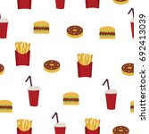 usa. american food  fast food.... | Shutterstock .eps vector #692413039