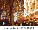 streets of moscow decorated for ...   Shutterstock . vector #692413921