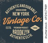 vintage typography for t shirt... | Shutterstock .eps vector #692417989