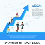 business graph growth concept... | Shutterstock .eps vector #692418307