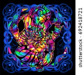 the lord ganesha is a... | Shutterstock .eps vector #692418721