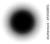 halftone element  circular... | Shutterstock .eps vector #692420851