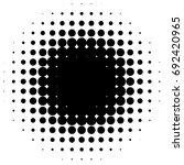 halftone element  circular... | Shutterstock .eps vector #692420965
