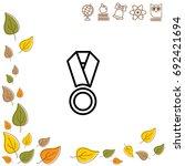 web line icon. medal | Shutterstock .eps vector #692421694