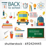 vector flat style icons of... | Shutterstock .eps vector #692424445