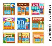 flat style cafe restaurant shop ... | Shutterstock .eps vector #692425591