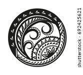 sticker in ethnic style.... | Shutterstock .eps vector #692425621
