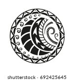 sticker in ethnic style.... | Shutterstock .eps vector #692425645