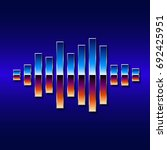80s styled sound wave. 1980...   Shutterstock . vector #692425951