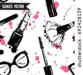 seamless makeup cosmetics... | Shutterstock .eps vector #692428159