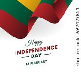 lithuania independence day. 16... | Shutterstock .eps vector #692429851