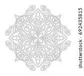 mandala. black and white... | Shutterstock .eps vector #692435815