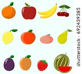 illustration of juicy and ripe... | Shutterstock . vector #692439385