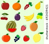 illustration of juicy and ripe... | Shutterstock . vector #692439421