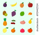 fruit juicy and ripe collected... | Shutterstock . vector #692442514