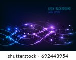 abstract shining wave... | Shutterstock .eps vector #692443954
