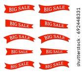 flat vector ribbons set  sale ... | Shutterstock .eps vector #692448331