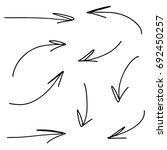 hand drawn vector arrows ... | Shutterstock .eps vector #692450257