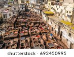 tannery in fez  morocco | Shutterstock . vector #692450995